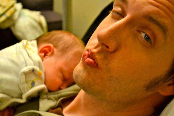 Daddy magic, rocking Daphne to sleep
