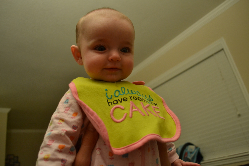 Carter's teething bib, catching some drool