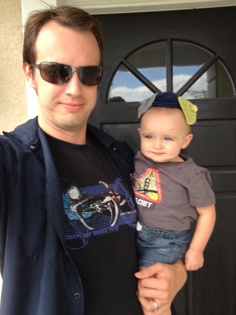 Wearing Trek Shirts