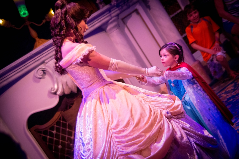 "Belle dances with her ""Beast"""