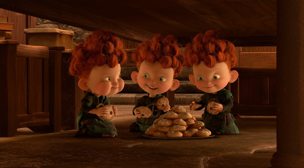 Don't know why they are stockpiling cookies, it looks like they're already smuggling dinner rolls in their hair...