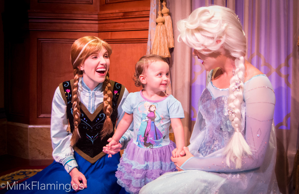 Anna & Elsa at Princess Fairytale Hall