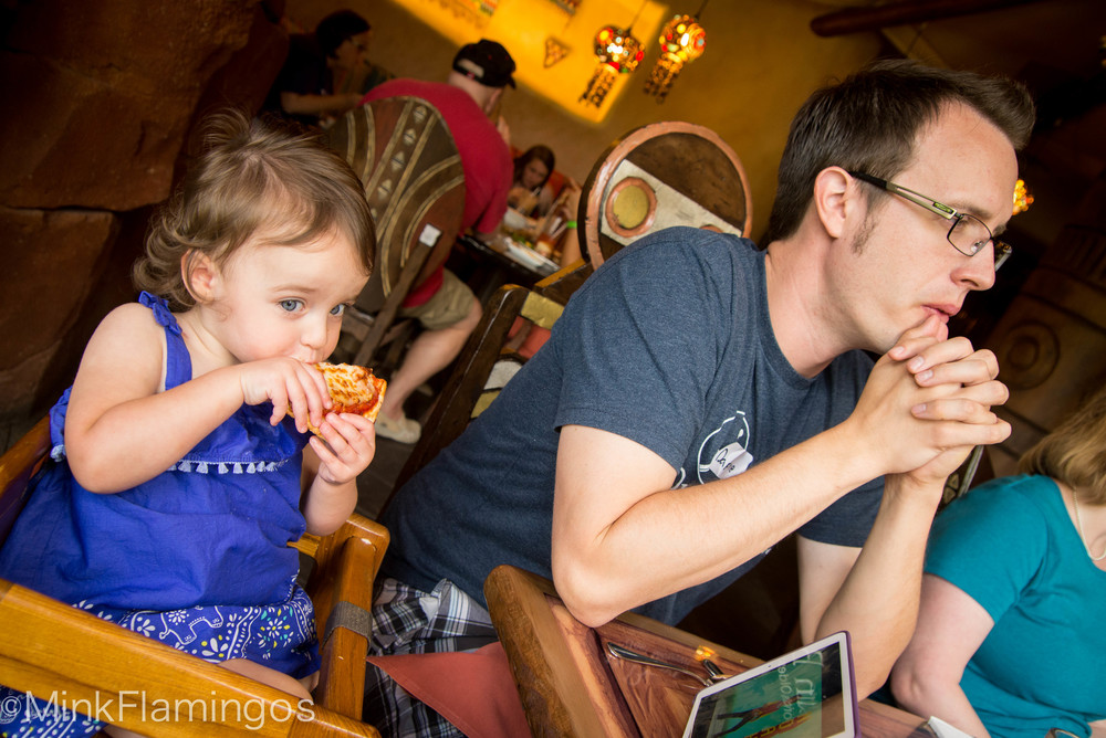 Ian's fascinated. D loves pizza.
