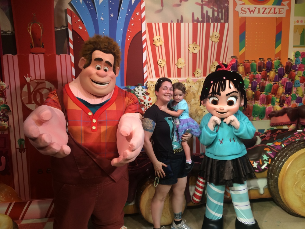 D's not sure what to think of Ralph and Vanellope