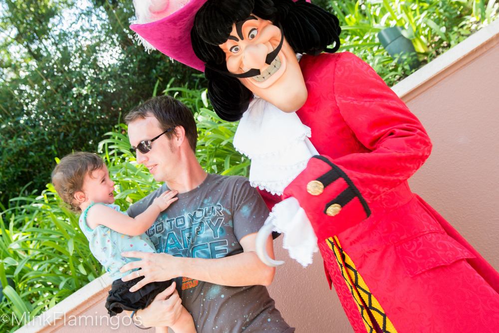 D thinks Captain Hook is plenty scary, thank you very much!