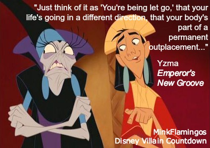 Yzma needs to give an HR seminar