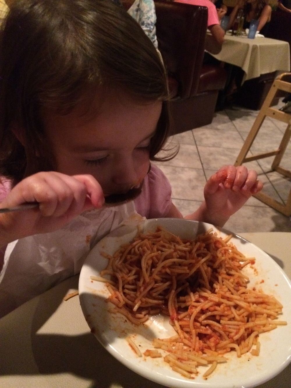 Eating Stefano's spaghetti