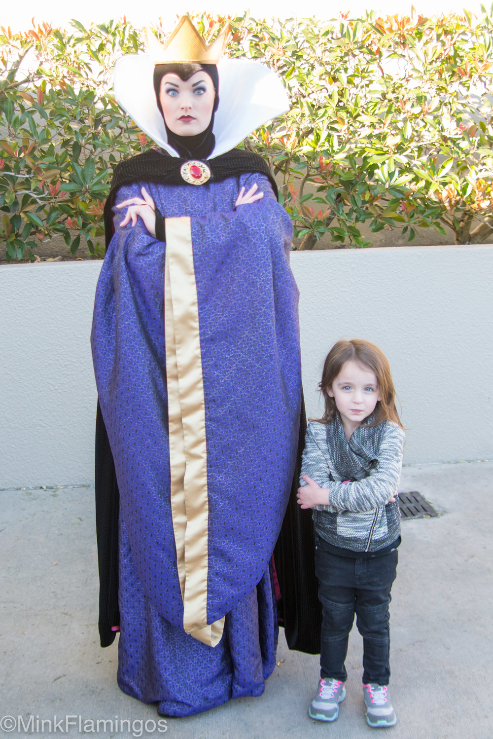 Evil Queen Grimhilde (Snow White) only sporadically greets guests at Hollywood Studios