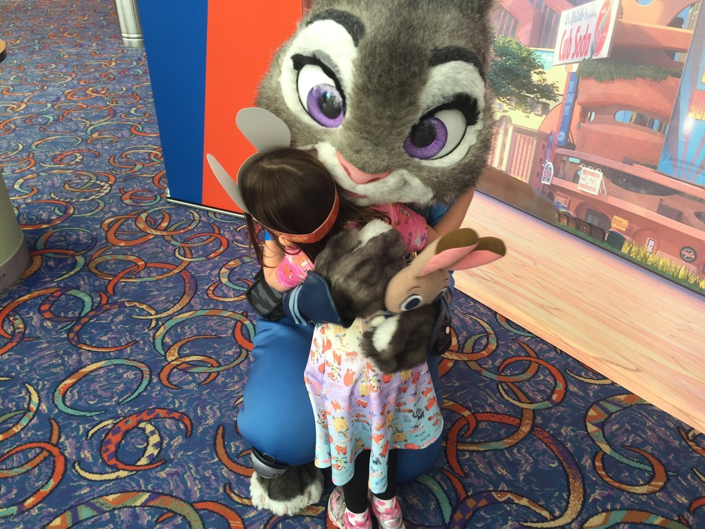 Daphne got to meet Judy Hopps at a special Disney Parks Blog screening at Disney Springs