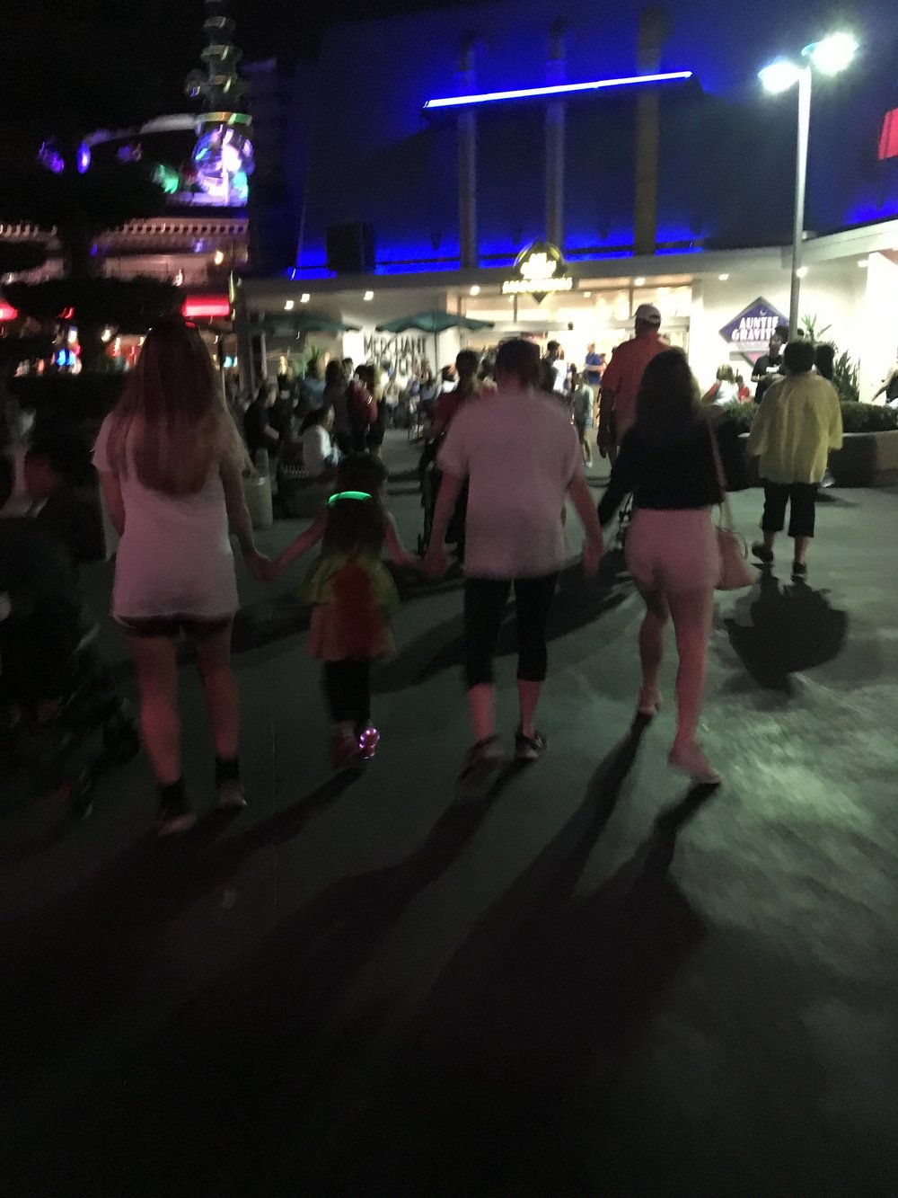 Tomorrowland strolls with Julia, Mary, and Brooke