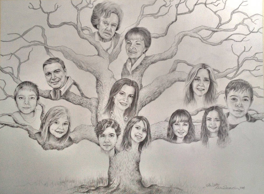 Cool Family Tree Drawings Family Tree Portrait