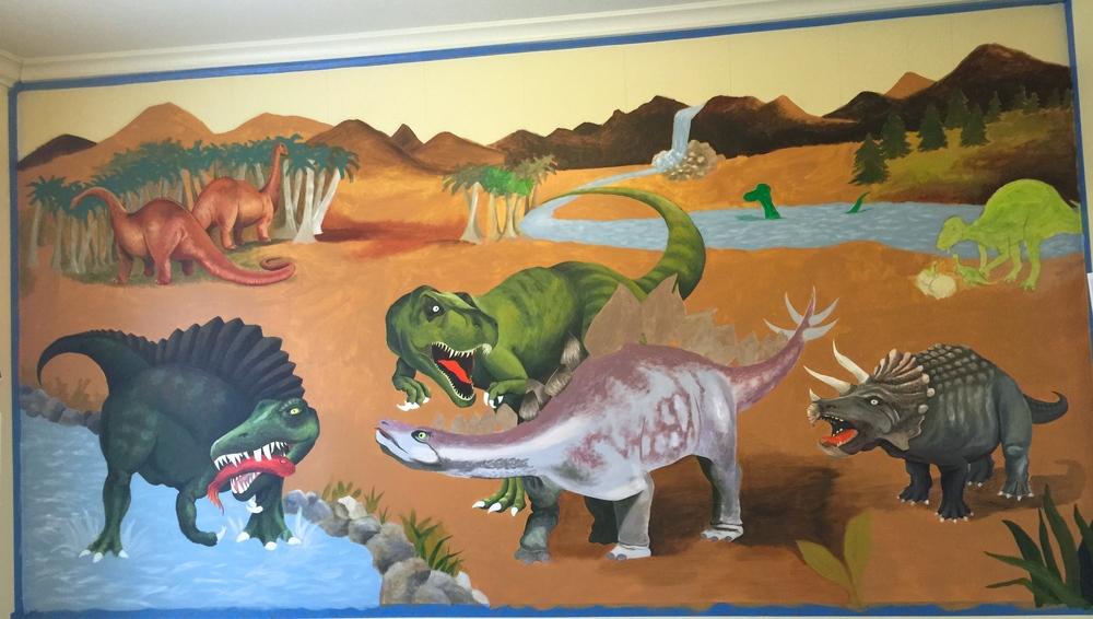 Painting A Dinosaur Mural Pt1 Aimee Manion