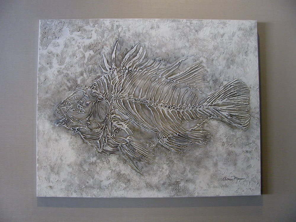 Fish Fossil Painting