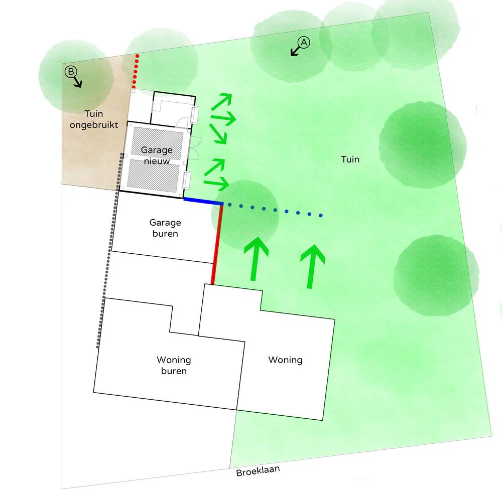 Afbeelding 2, concept ontwerp nieuwe garage (klik op afbeelding voor vergroting)