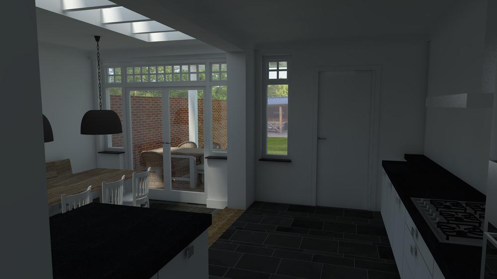 Nieuwe situatie vanuit bestaande keuken