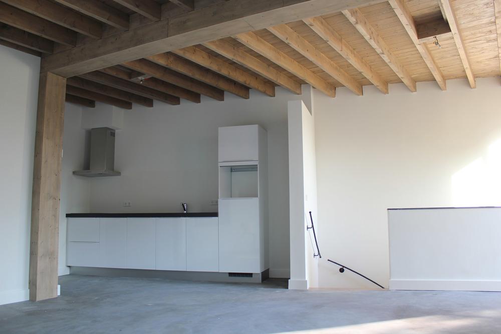 Keuken van het bovenste appartement
