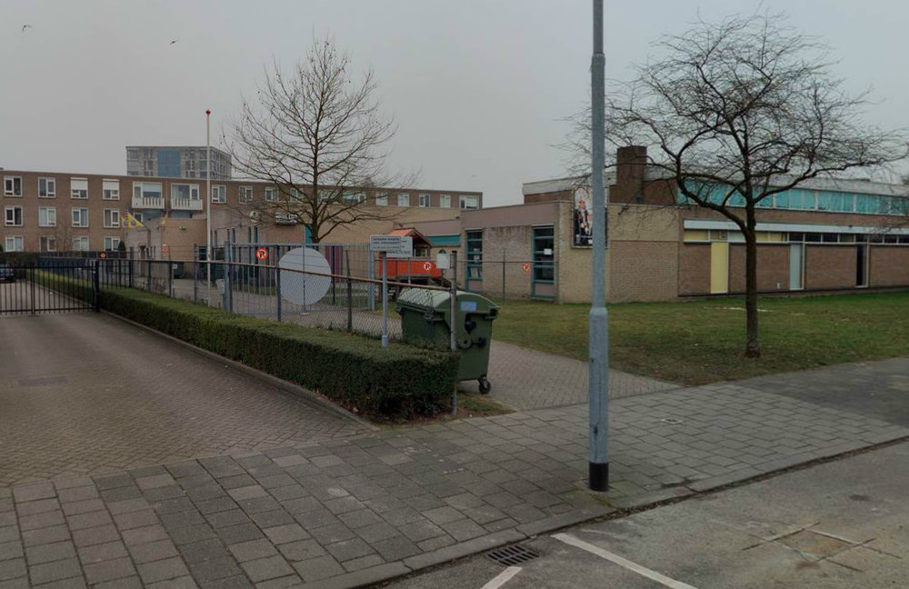Het huidige gebouw is niet herkenbaar als zijnde een gemeenschapshuis