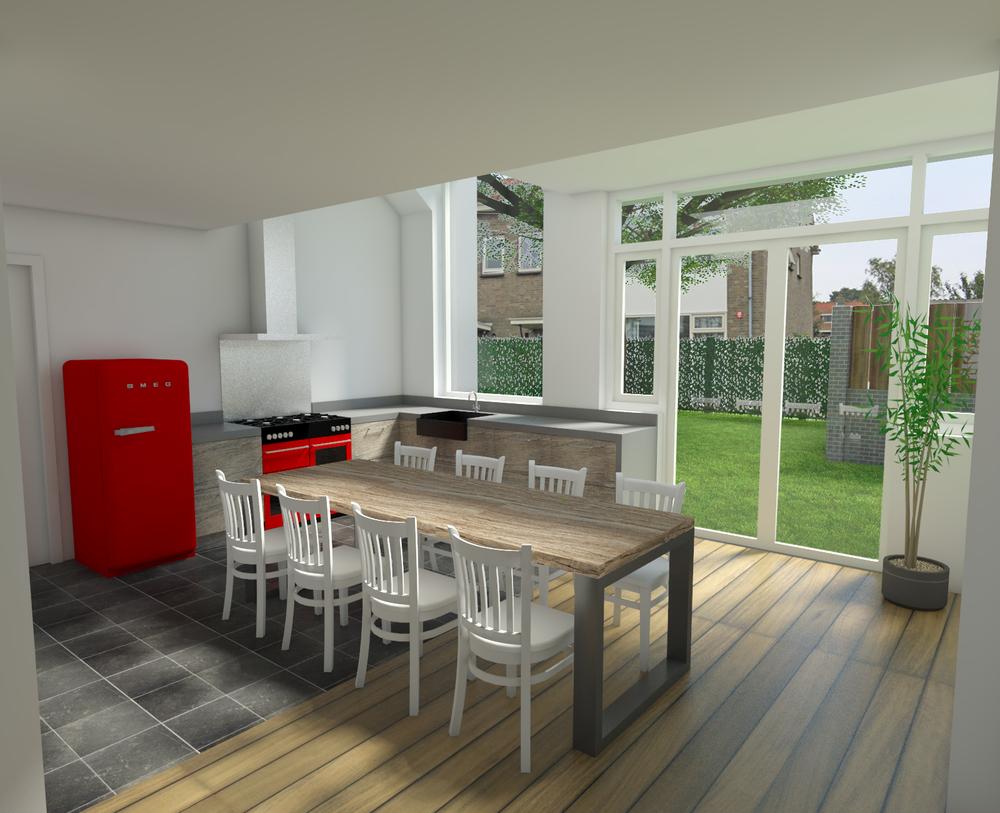 Aanbouw Open Keuken : Aanbouw woonhuis u jules design development