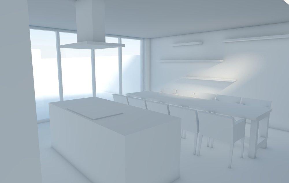 Ruimtelijk ontwerp keuken