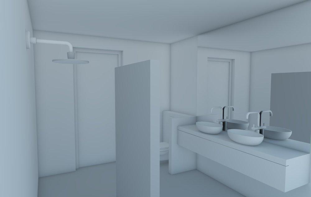 Ruimtelijk ontwerp badkamer