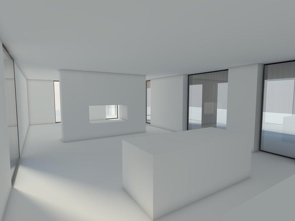 Het open interieur van de begane grond zorgt voor veel daglichttoetreding