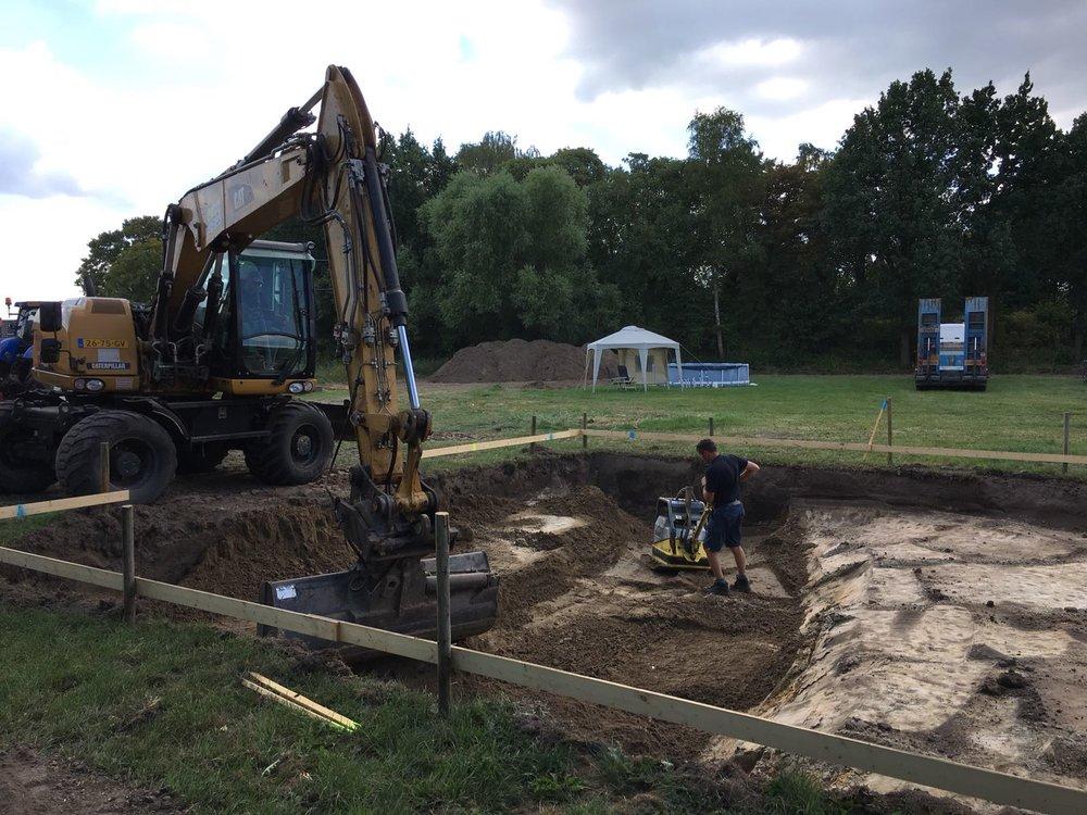 Fundering uitgraven