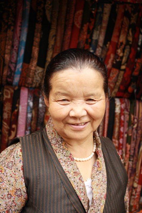 Tibetan woman in india