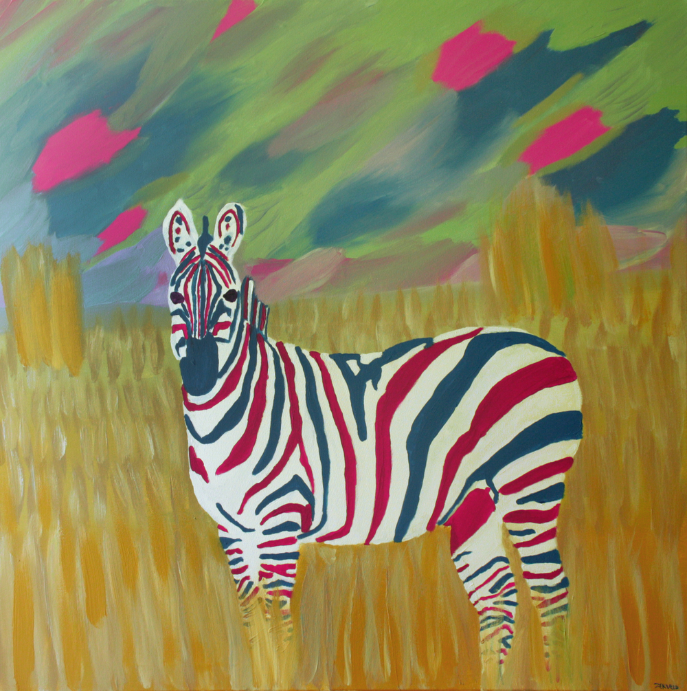 Hollandse zebra. 100 x 100