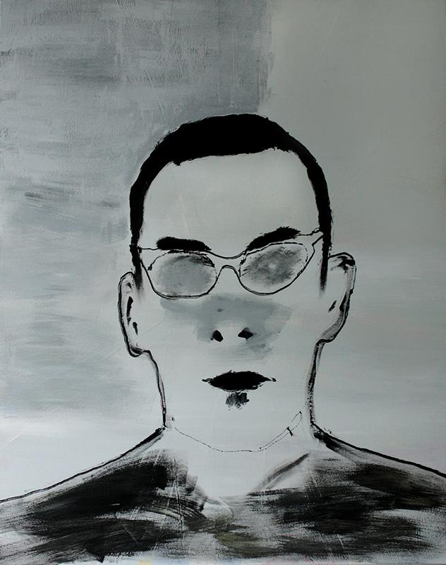 Jules Deelder, 80 x 100