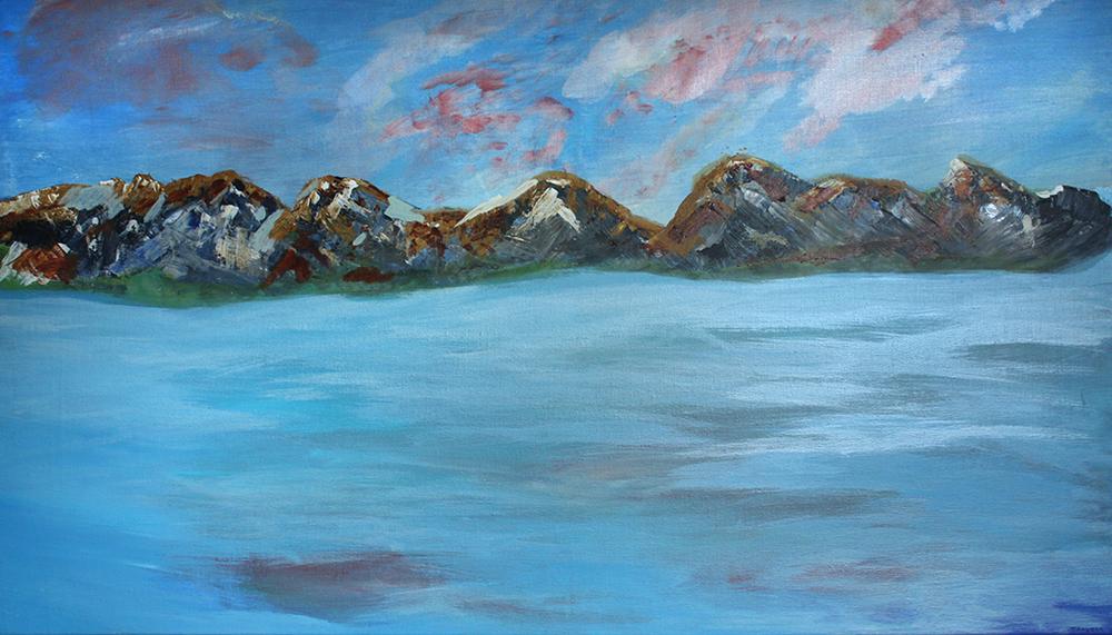 Rocky Island. 100 x 140