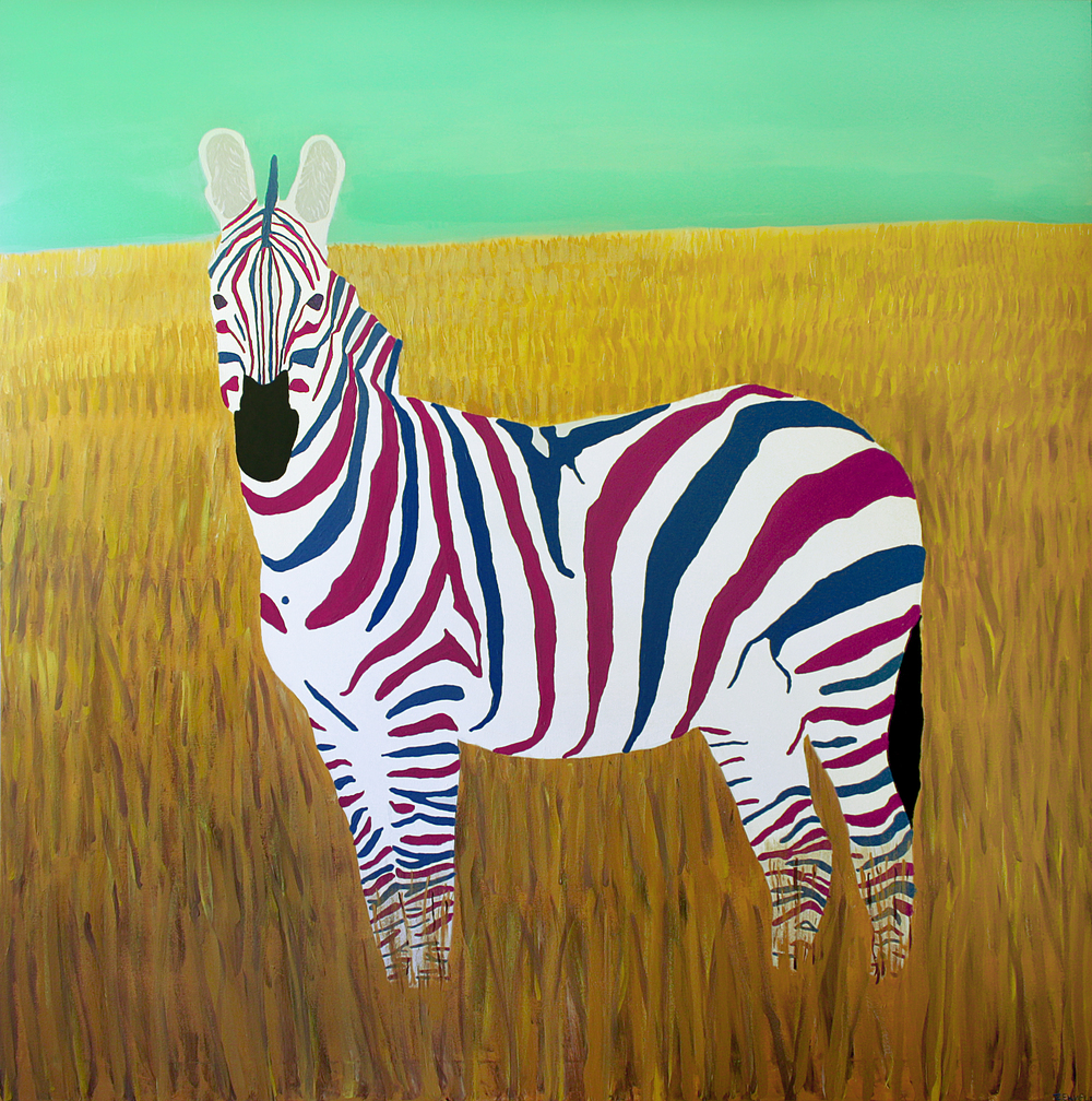Dutch zebra xl. 150 x 150