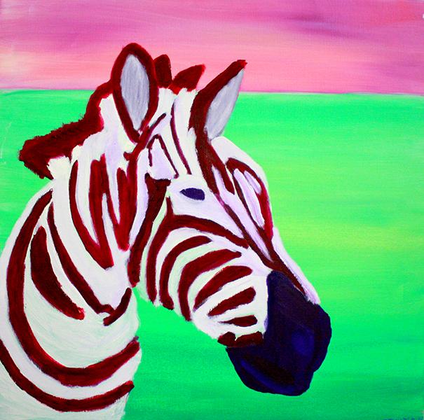 Noorse zebra. 90 x 90