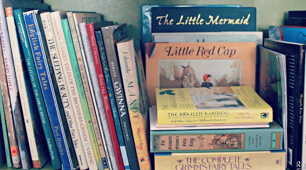 fairytale books on my shelf