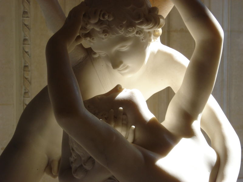 Detail of Psyche revived by Cupids Kiss : Antonio Canova 1787