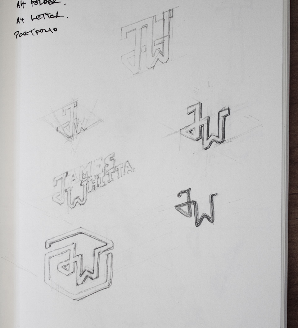 Iterative sketches for Brandmark