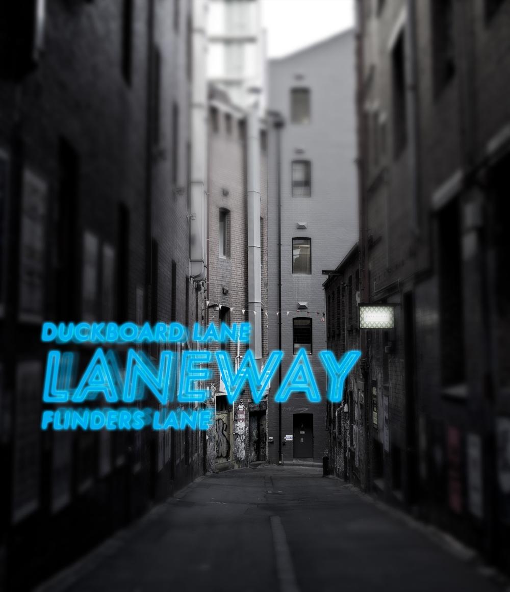 Duckboard Lane / Flinders Lane, Melbourne