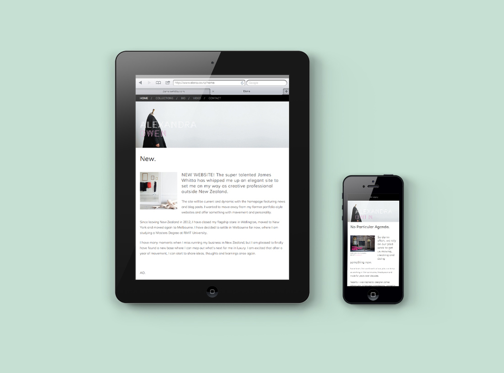 Responsive design. Viewable on multiple platforms.