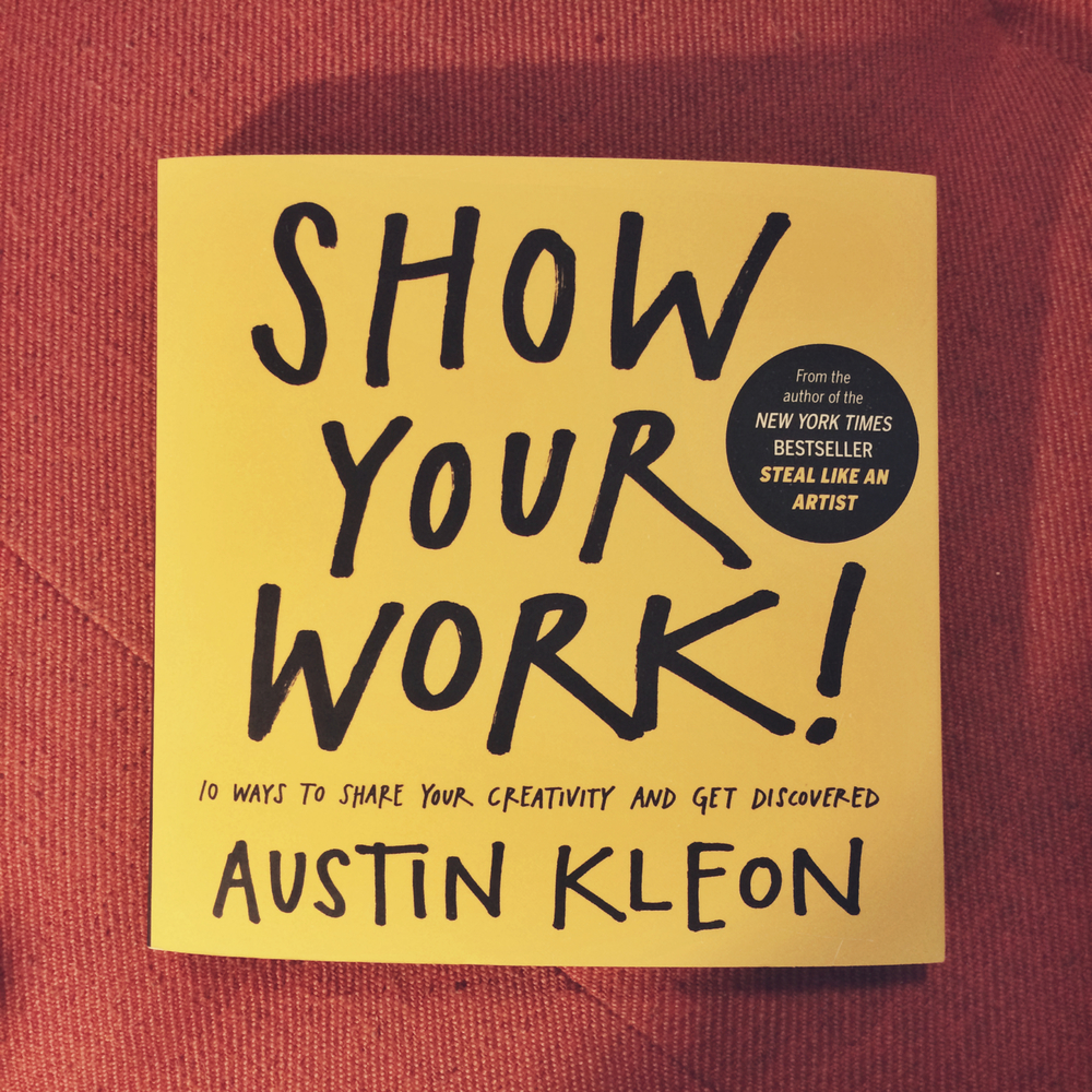 "Austin Kleon is ""a writer who draws"" who lives in Austin, TX and online at  austinkleon.com ."