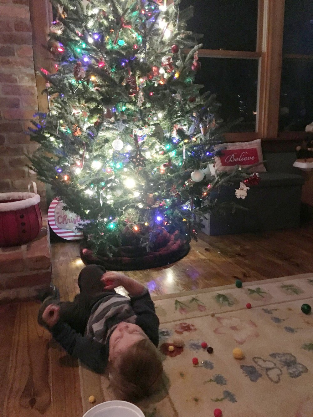 Jaxon considering his next move in dismantling our tree