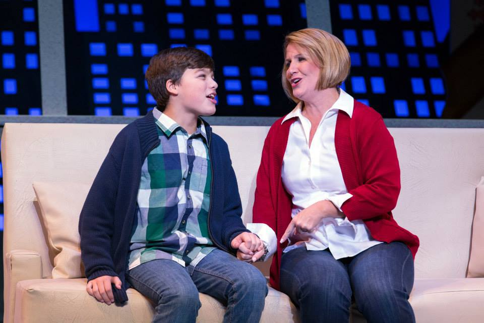 JD Triolo as Michael and Kristine Fraelich as Emily in Elf: The Musical