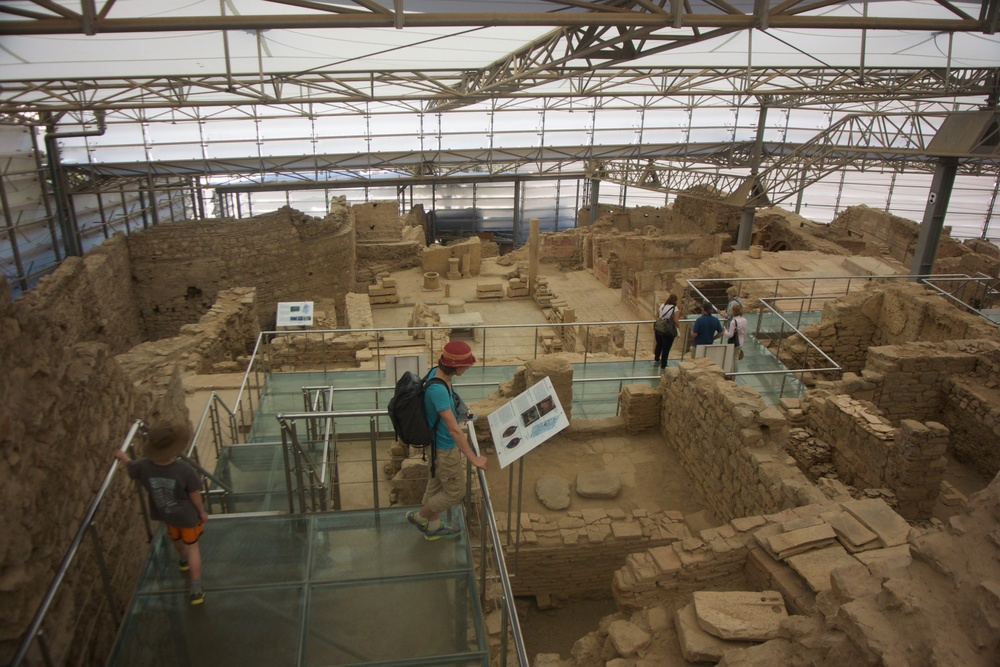 An exhibit of the archaeological excavation of the Terrace Houses at Ephesus