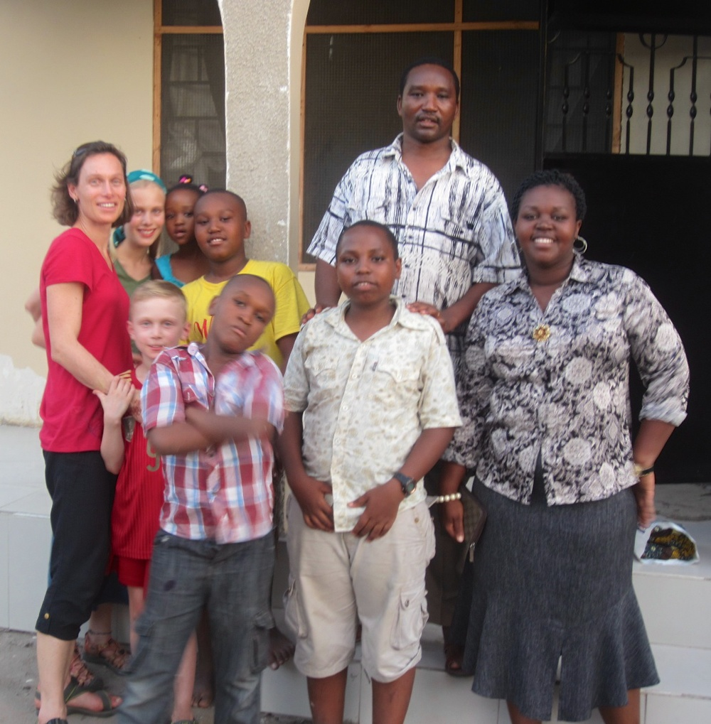 A visit with Ibrahim Makuhi, his wife, Kwezi, and their kids.