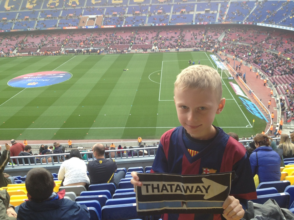 Isaac's first appearance at Camp Nou Stadium wearing an FC Barcelona jersey....