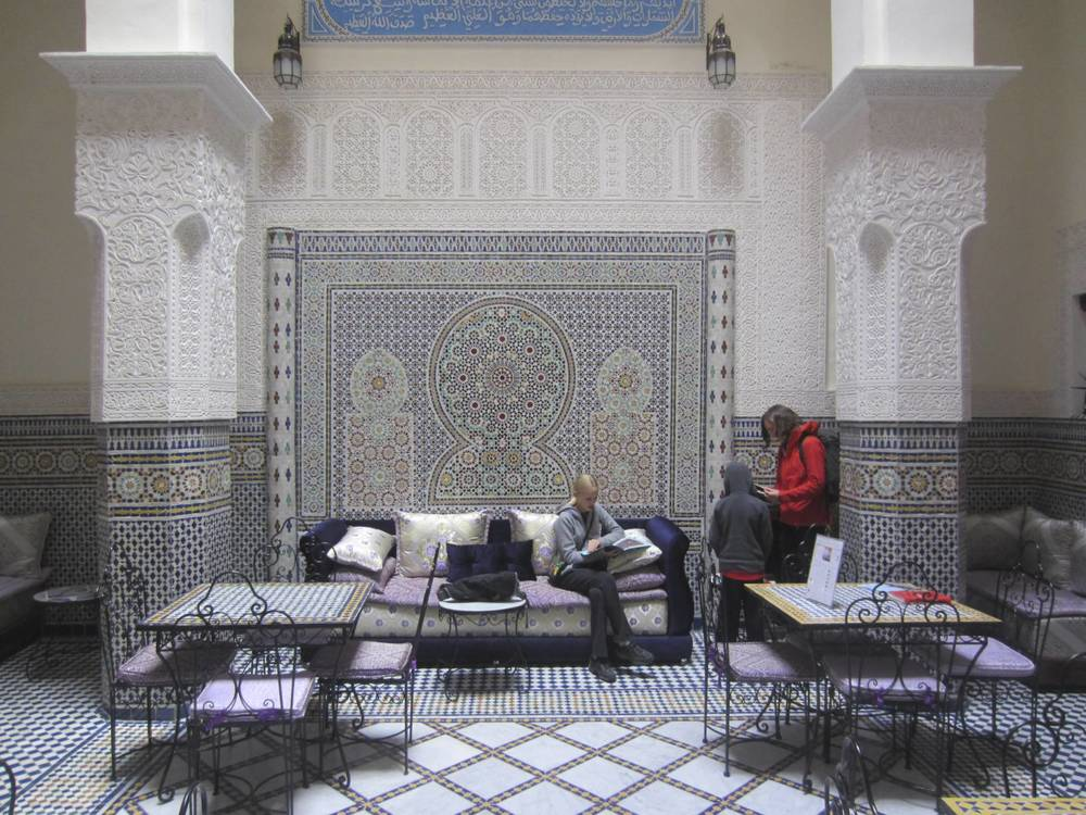 Interior of the first riad that we stayed at in Fez.