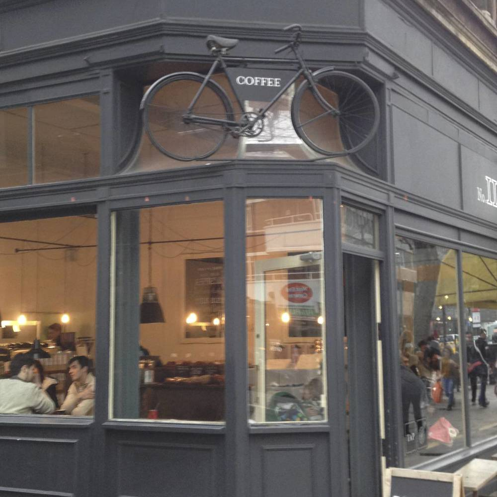 Random bicycle coffee shop