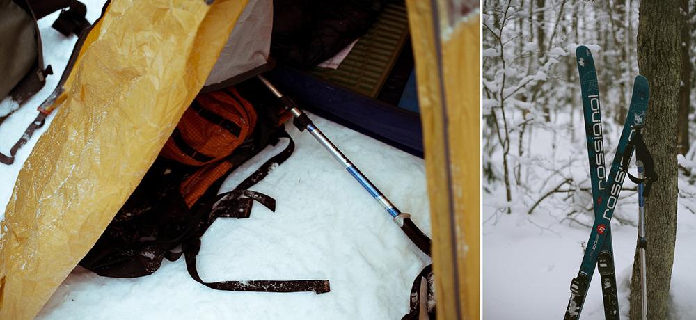 ski in