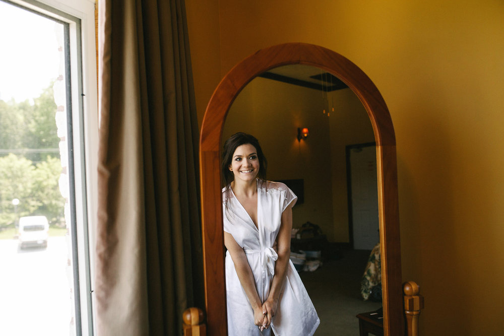 Excited Bride before wedding begins