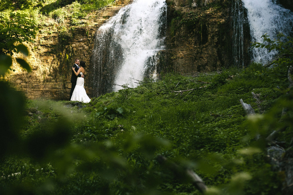 Bridal Portraits at Walters Falls