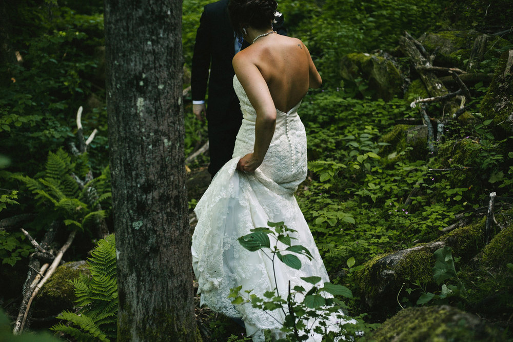 Bride and Groom adventure along the Bruce Trail