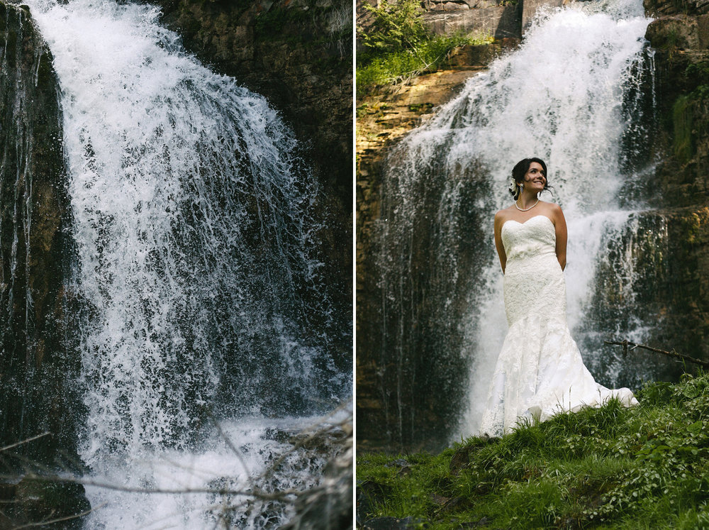 Portrait of a Bride at Walters Falls in Grey County